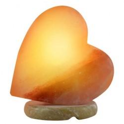 Sydämen muotoinen himalajan suolalamppu
