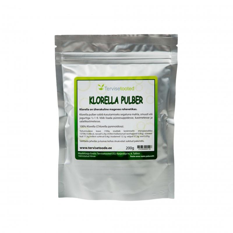 Chlorella powder 200g Tervisetooted