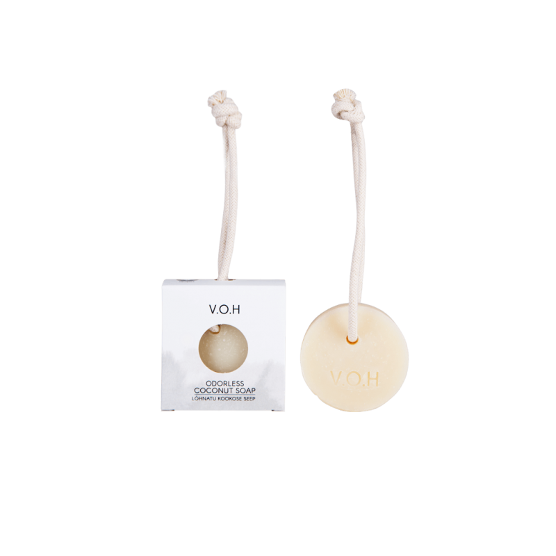 Unscented Coconut Soap on a Rope V.O.H