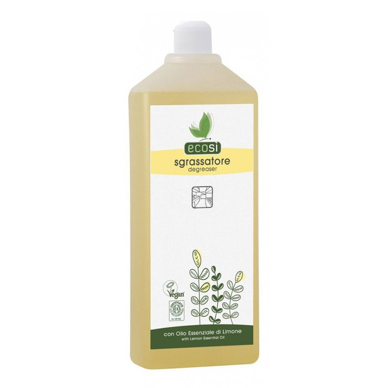 DEGREASER WITH LEMON ESSENTIAL OIL, 1L ECOSI