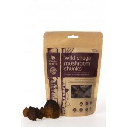 Wild chaga mushroom chunks 130g ORGANIC CHAGA HEALTH