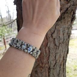 "DALMATIAN JASPER BRACELET ""Diamond Shape"" Vitaest Baltic OÜ"