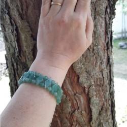 "BRACELET ""DIAMOND SHAPE"" Green Aventurine Vitaest Baltic OÜ"