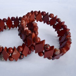 "RED JASPER BRACELET ""DIAMOND SHAPE"" Vitaest Baltic OÜ"