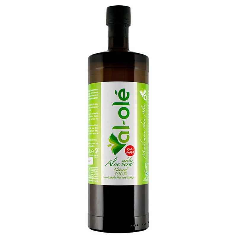 Aloe Vera Con Pulpa Ecológico 99,8%, 1000ml Al-Olé - Andaluusia Aaloe