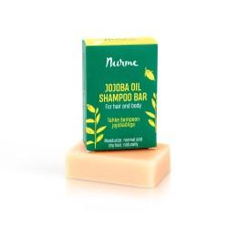 Tahke šampoon JOJOBAÕLIGA kuivadele juustele 100 g Nurme Looduskosmeetika