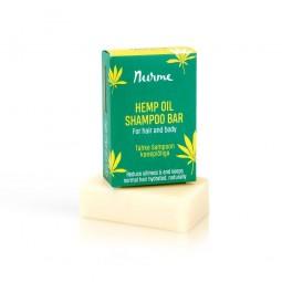 Hemp Oil Shampoo Bar 100g (for normal and oily hair) Nurme Looduskosmeetika