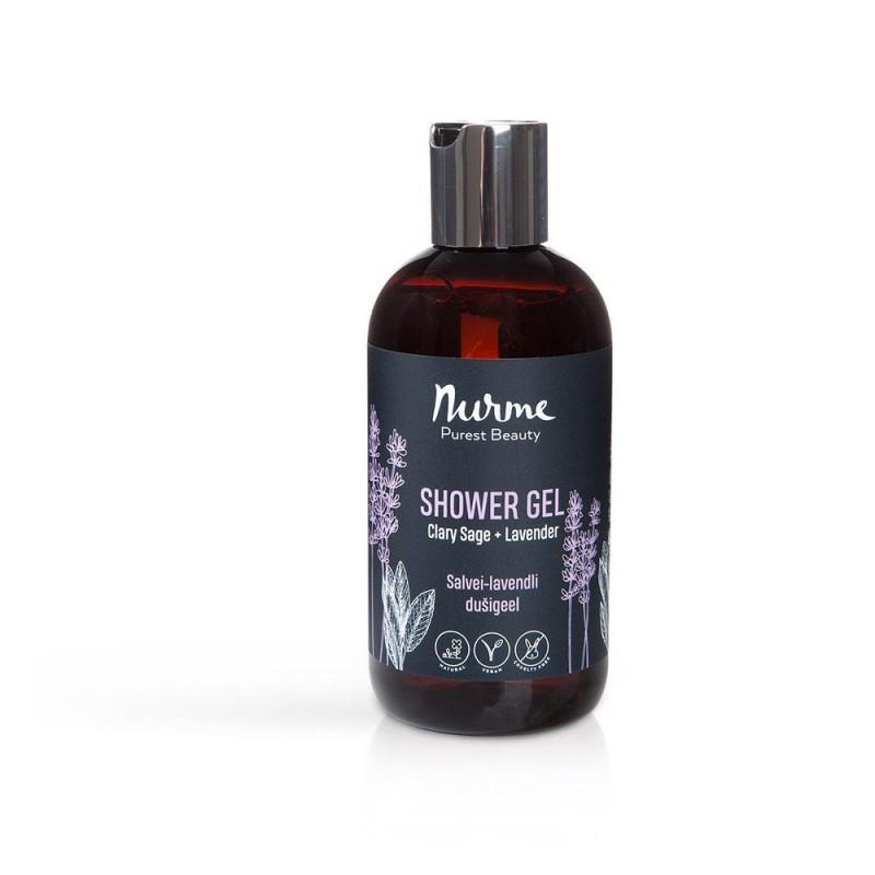 Lavender – Muskatellisalvia & laventeli suihkugeeli 250ml Nurme Looduskosmeetika