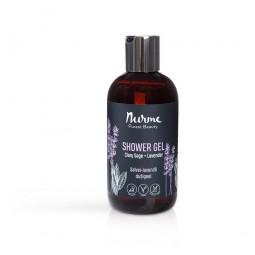 Shower Gel Clary Sage + Lavender 250ml Nurme Looduskosmeetika