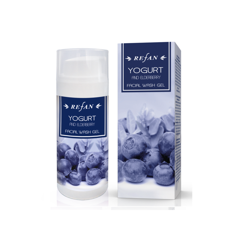 Yogurt and Еlderberry FACIAL WASH GEL , 100ml Refan