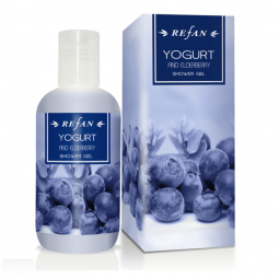 Yogurt and Еlderberry Shower gel, 200ml Refan