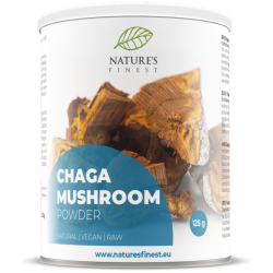 CHAGA MUSHROOM POWDER, 125G / DIETARY SUPPLEMENT NATURE'S FINEST BY NUTRISSLIM