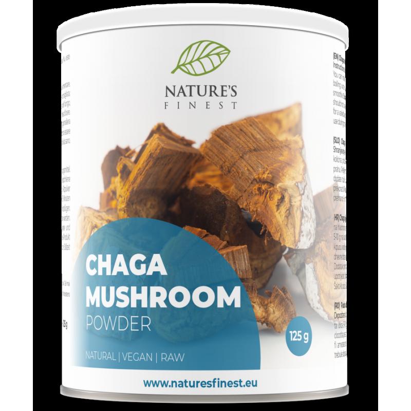 CHAGA MUSHROOM POWDER, 125G / DIETARY SUPPLEMENT NATURE'S FINEST BY NUTRISSLIM