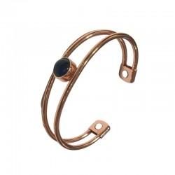 Copper bracelet, with a blue stone Vitaest Baltic OÜ