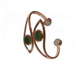 Vasest käevõru magnetitega (rohelise kiviga) Vitaest Baltic OÜ
