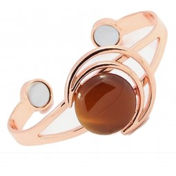Copper bracelet, orange / yellow cat eye Vitaest Baltic OÜ