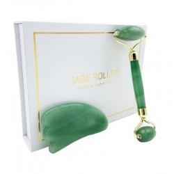 Massage roller + Gua Sha massage stone, Jadeite (Jade) Vitaest Baltic OÜ