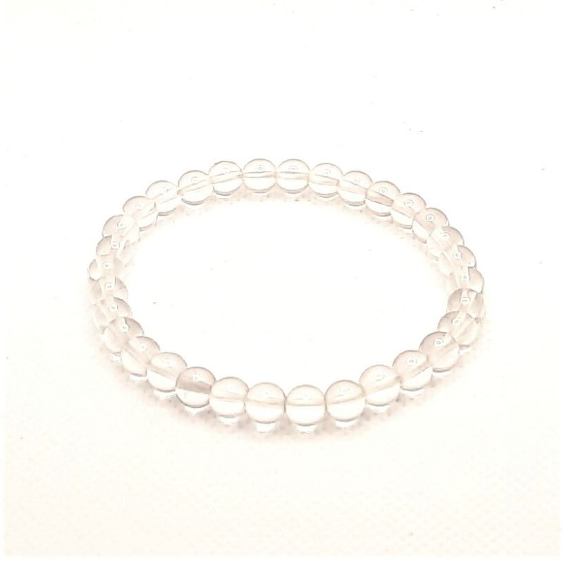 Rock crystal bracelet with round stones, pearl 6mm Vitaest Baltic OÜ