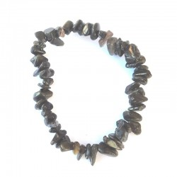 Smoke obsidian chips bracelet Vitaest Baltic OÜ