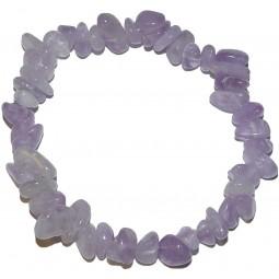 Lavender quartz bracelet with chips Vitaest Baltic OÜ