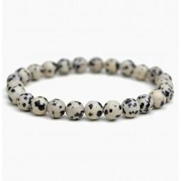 Dalmatian jasper bracelet bead 6mm Vitaest Baltic OÜ