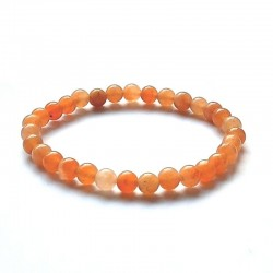Oranži aventuriin käevõru 6mm pärlitest Vitaest Baltic OÜ