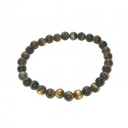 Tiger Eye bracelet blue beads 6mm Vitaest Baltic OÜ