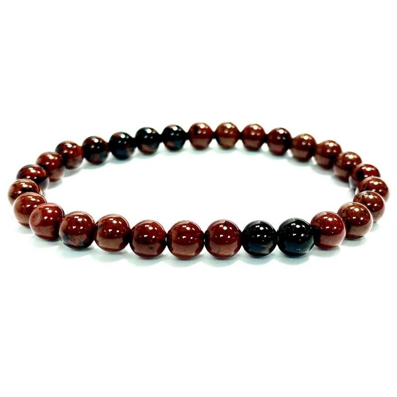Mahogany obsidian bracelet beads 6mm Vitaest Baltic OÜ