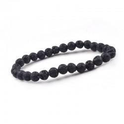 Lava stone bracelet 6mm beads Vitaest Baltic OÜ