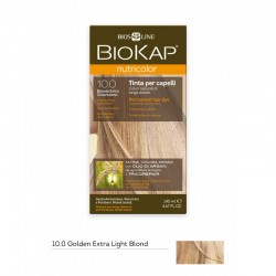 BIOKAP NUTRICOLOR 10.0 / GOLDEN EXTRA LIGHT BLOND HAIR DYE BIOKAP