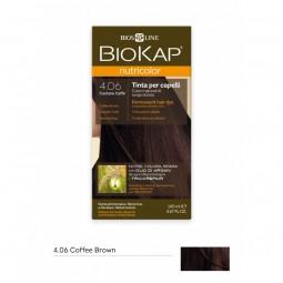 BIOKAP NUTRICOLOR 4.06 / COFFEE BROWN HAIR DYE BIOKAP