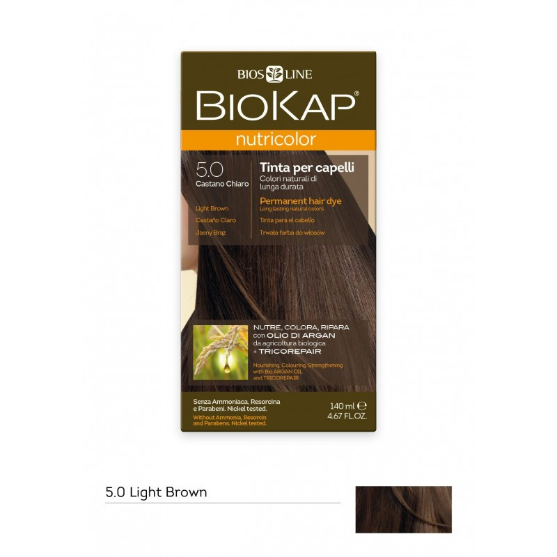 BIOKAP NUTRICOLOR 5.0 / LIGHT BROWN HAIR DYE BIOKAP