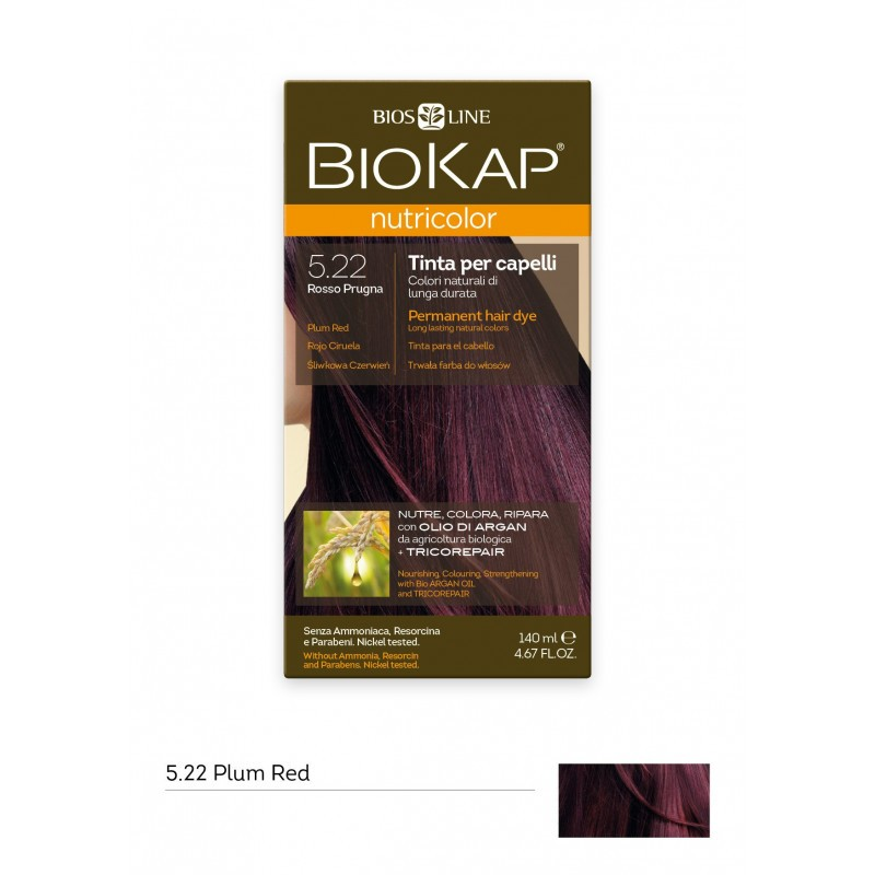 BIOKAP NUTRICOLOR 5.22 / PLUM RED HAIR DYE BIOKAP