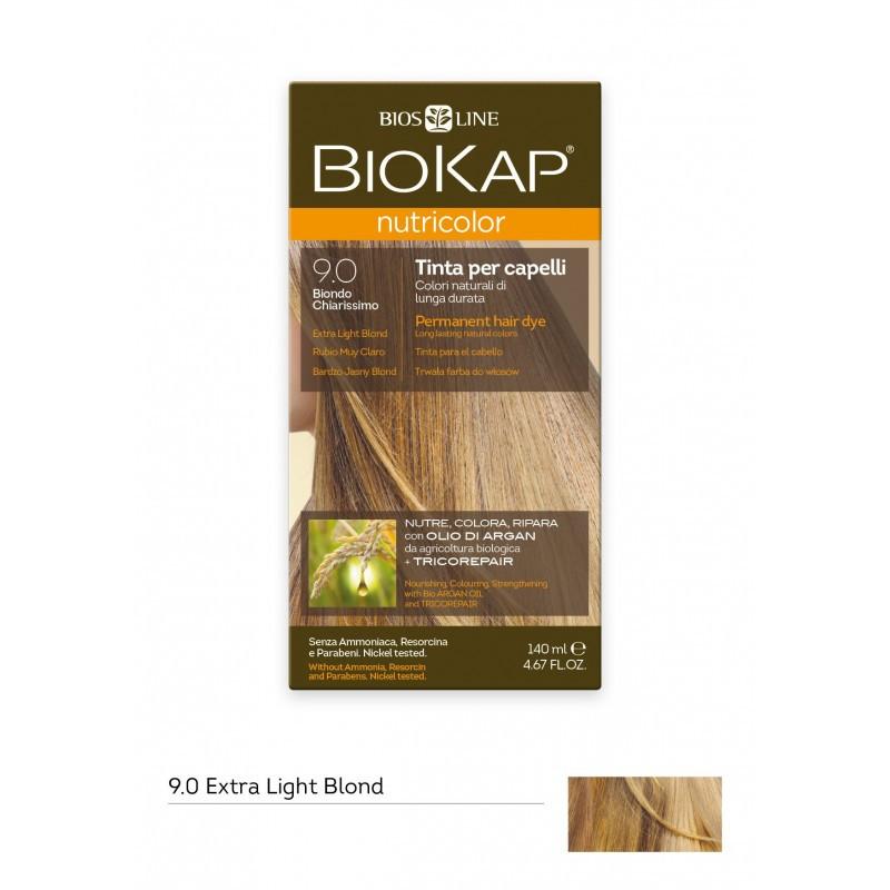 BIOKAP NUTRICOLOR 9.0 / EXTRA LIGHT BLOND HAIR DYE BIOKAP