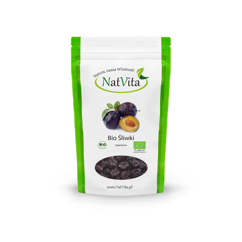 Dried plums ECO, 220g NatVita