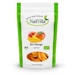 Mango dried slices ECO, 100g NatVita