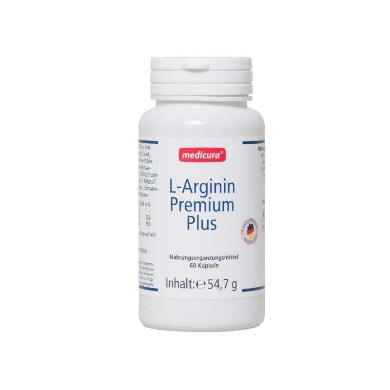 L-ARGININ PREMIUM PLUS CAPSULES, 60PCS MEDICURA