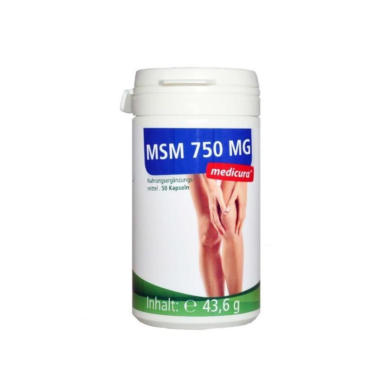 MSM CAPSULES, 50PCS MEDICURA
