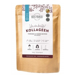 COLLAGEN WITH RAW COCOA AND RASPBERRY 300g BOOST YOURSELF