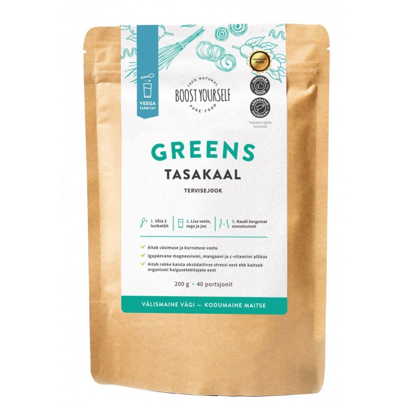 Greens Tasakaal supertoidusegu 200g BOOST YOURSELF