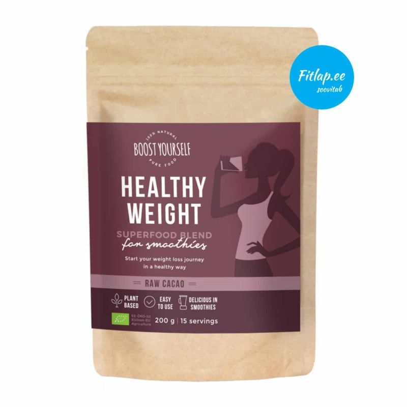 Healthy Weight toorkakao supertoidusegu (mahe) 200g BOOST YOURSELF