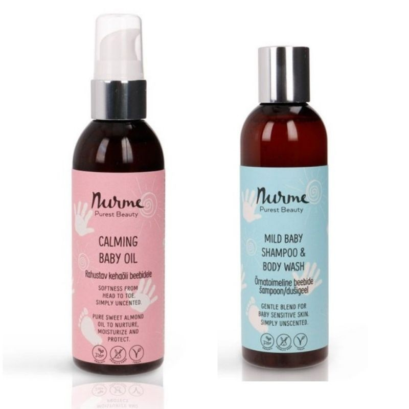 Kehaõli ja šampoon/dušigeel Nurme Looduskosmeetika