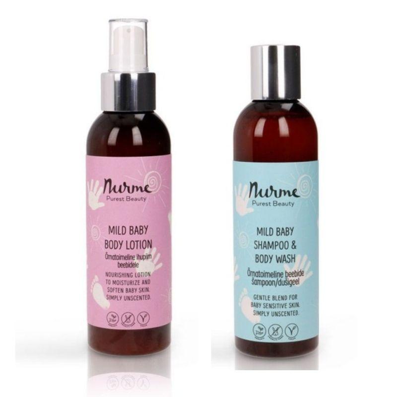 Ihupiim ja šampoon/dušigeel Nurme Looduskosmeetika