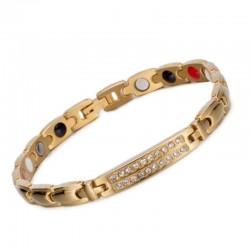 Käevõru kuldne kristallidega, magnet-germaanium-infrapuna (naistele) ESTONIA