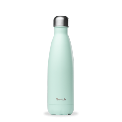 INSULATED STAINLESS STEEL THERMO BOTTLE, PASTEL GREEN, 500ML QWETCH