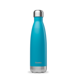 INSULATED STAINLESS STEEL THERMO BOTTLE, TURQUOISE, 500ML QWETCH