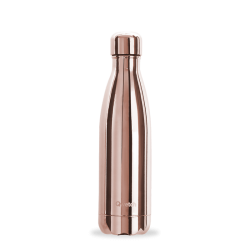 INSULATED STAINLESS STEEL THERMO BOTTLE, ROSE GOLD, 500ML QWETCH