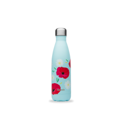 INSULATED STAINLESS STEEL THERMO BOTTLE, COQUELICOT, 500ML QWETCH