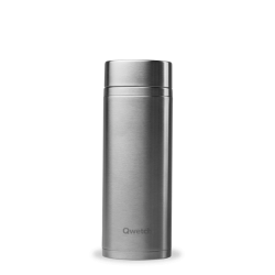 INSULATED STAINLESS STEEL TEAMUG, INOX, 400ML QWETCH