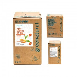 WASHING-UP LIQUID, 5L, TEA TREE, ORANGE Greenatural